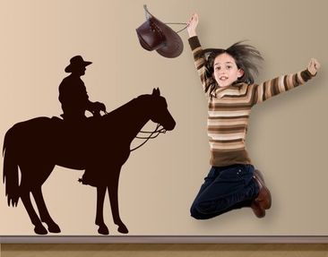 Produktfoto Wall Decal no.1400 Cowboy Silhouette