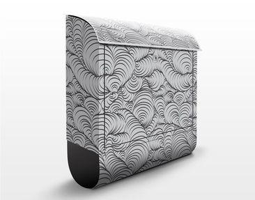 Produktfoto Briefkasten mit Zeitungsfach - Organisches Designmuster - Streifenmuster