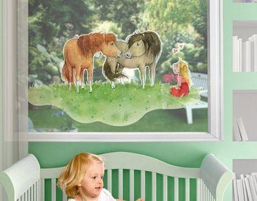 Produktfoto Zauberponygeschichten - Fensterfolie - Fenstersticker Liese und Lotte - Fensterbilder - Arena Verlag