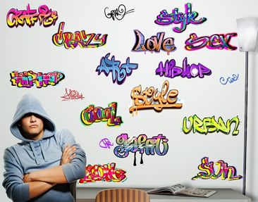Produktfoto Wall Decal no.718 Graffiti Set