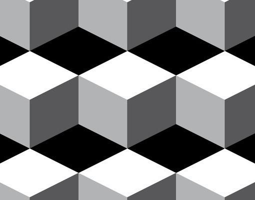 Produktfoto Beistelltisch - Würfeliges Grafikdesign - Tisch Grau Schwarz