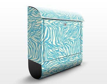 Produktfoto Briefkasten mit Zeitungsfach - Zebra Muster - Streifenmuster