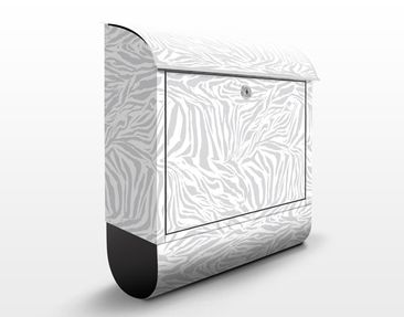 Produktfoto Design Letter Box Zebra Design Lightgrey...