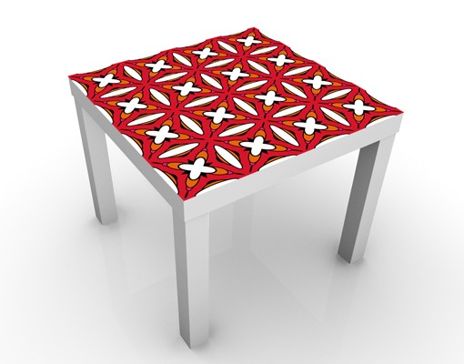 Produktfoto Design Tisch - Sechziger Hintergrund Muster - Tisch Rot