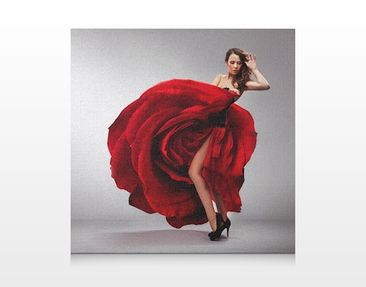 Product picture Canvas Art no.334 Rose Robe 70x70cm
