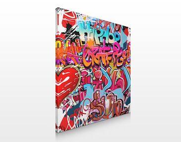 Produktfoto Leinwandbild No.189 HipHop Graffiti 70x70cm