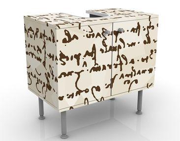 Produktfoto Waschbeckenunterschrank - Da Vinci Manuskript - Badschrank Braun