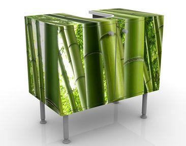 Produktfoto Waschbeckenunterschrank - Bamboo Trees No.1 - Badschrank Grün