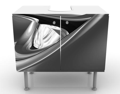 Produktfoto Waschbeckenunterschrank - Agitating Pink II - Badschrank Schwarz Grau