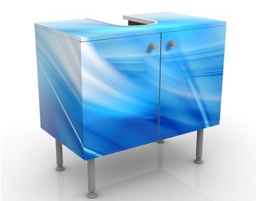 Produktfoto Waschbeckenunterschrank - Aquatic - Badschrank Blau