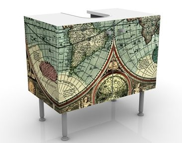 Product picture Design Vanity The Old World 60x55x35cm