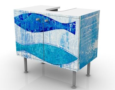 Product picture Design Vanity Fish In The Blue...