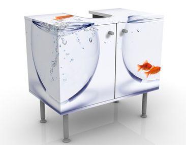 Immagine del prodotto Mobile per lavabo design Flying Goldfish 60x55x35cm