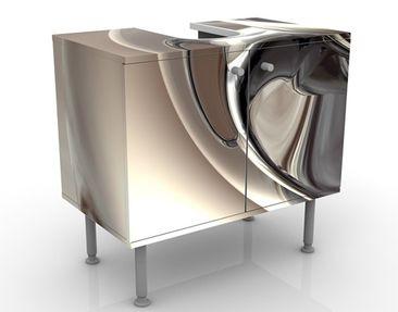 Produktfoto Waschbeckenunterschrank - Glossy - Badschrank Beige