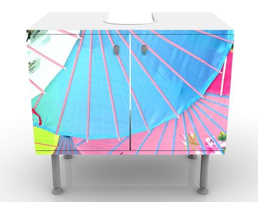 Produktfoto Waschbeckenunterschrank - Chinese Parasols - Badschrank Bunt