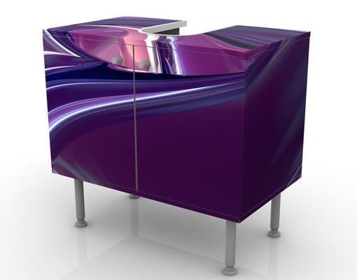 Produktfoto Waschbeckenunterschrank - Circles In Purple - Badschrank