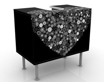 Produktfoto Waschbeckenunterschrank - Heart Giveaway - Badschrank Schwarz
