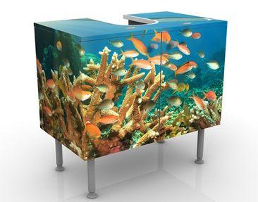 Produktfoto Waschbeckenunterschrank - Korallenriff - Badschrank Bunt