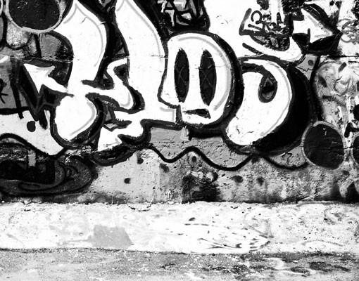 Produktfoto Waschbeckenunterschrank - Graffiti Art - Badschrank Schwarz