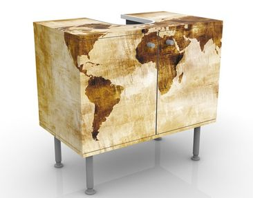Immagine del prodotto Mobile per lavabo design no.CG75 Map Of The World 60x55x35cm
