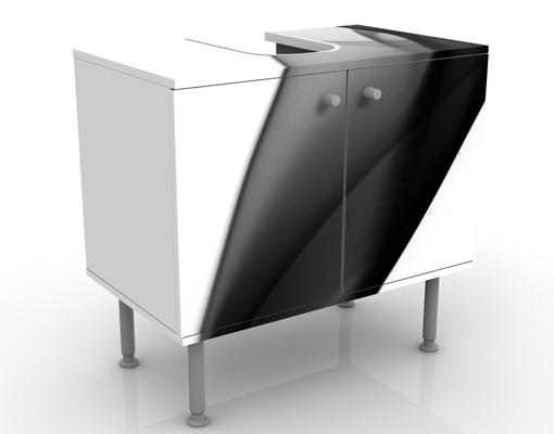 Produktfoto Waschbeckenunterschrank - Grey Nebula - Badschrank Weiß Schwarz
