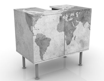 Product picture Design Vanity Vintage Worldmap II...