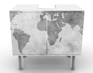Product picture Design Vanity Vintage Worldmap II...
