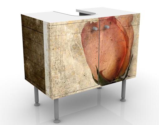 Produktfoto Waschbeckenunterschrank - Inner Rose - Blumen Badschrank Braun