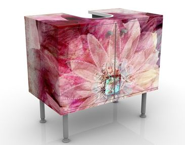 Product picture Design Vanity Grunge Flower 60x55x35cm
