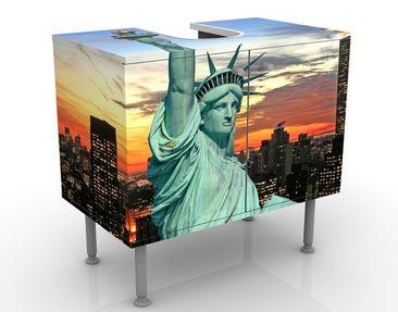 Immagine del prodotto Mobile per lavabo design New York At Night 60x55x35cm