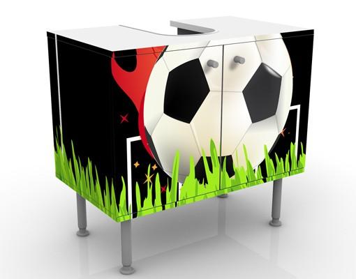 Produktfoto Waschbeckenunterschrank - No.EG5 Football on Fire - Badschrank Schwarz