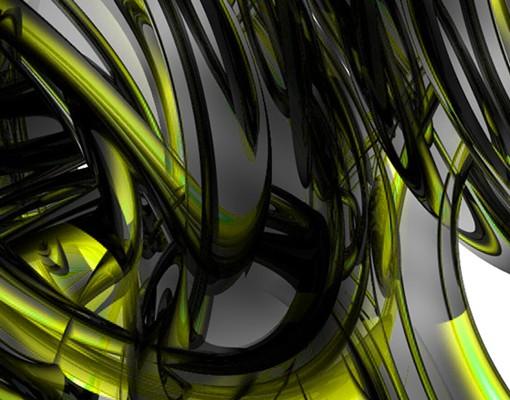 Produktfoto Waschbeckenunterschrank - Shining Yellow Circles - Badschrank Schwarz Grün