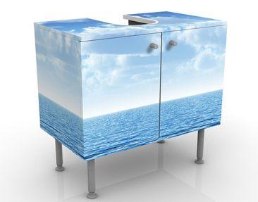 Produktfoto Waschbeckenunterschrank - Shining Ocean - Maritim Badschrank Blau