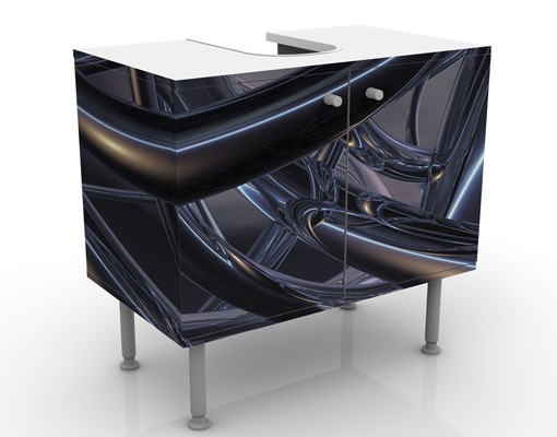 Produktfoto Waschbeckenunterschrank - Space Stitch - Badschrank Schwarz