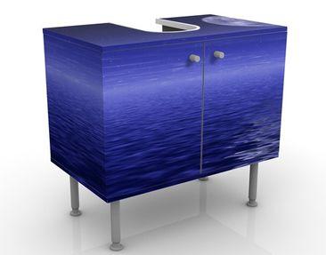 Produktfoto Waschbeckenunterschrank - Moon and Ocean - Badschrank Blau