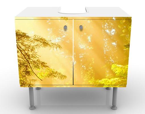 Produktfoto Waschbeckenunterschrank - Morgengold - Badschrank Gelb