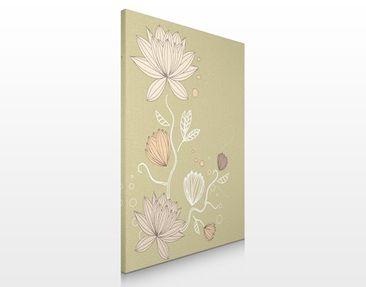 Produktfoto Leinwandbild No.200 Art Nouveau Flower...