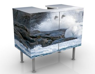 Immagine del prodotto Mobile per lavabo design Storm Waves At The Lighthouse 60x55x35cm