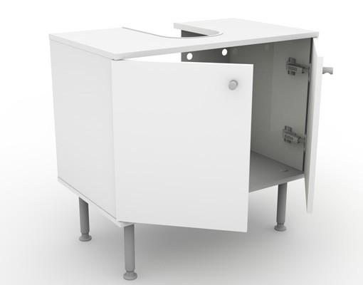 Produktfoto Waschbeckenunterschrank - Red Wave - Badschrank Rot Schwarz