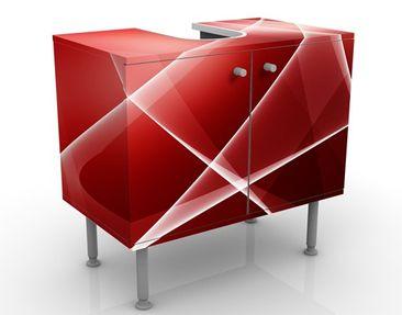 Produktfoto Waschbeckenunterschrank - Red Turbulency - Badschrank Rot