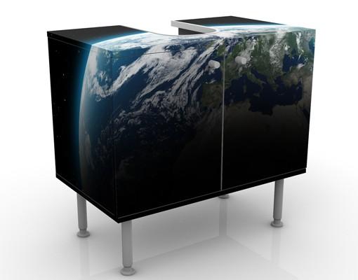 Produktfoto Waschbeckenunterschrank - Planet Earth - Badschrank Schwarz