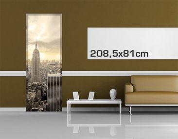 Product picture Door Photo Wall Mural Manhattan Dawn