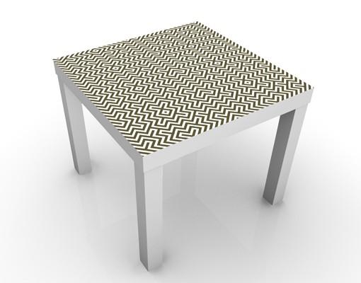 Produktfoto Beistelltisch - Geometrisches Design Braun - Tisch Braun