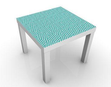 Produktfoto Beistelltisch - Geometrisches Design Mint  - Tisch Blau
