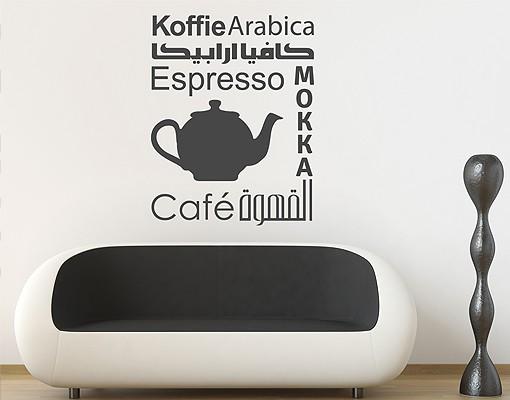 wandtattoo spr che coffee variants. Black Bedroom Furniture Sets. Home Design Ideas