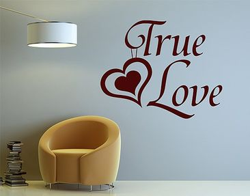Produktfoto Wandtattoo Sprüche - Wandworte No.1430 True Love