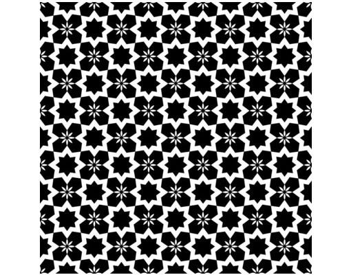 Produktfoto Beistelltisch - Schwarzweiße Sterne - Tisch Schwarz