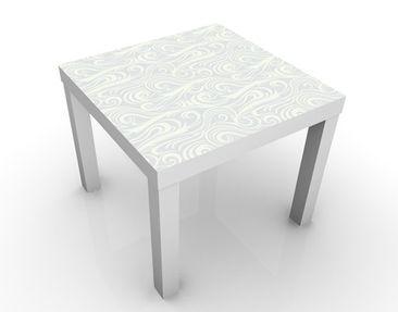Produktfoto Beistelltisch - Welliges Muster - Tisch Weiß
