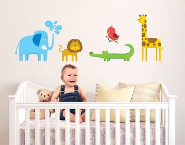 Product picture Wall Decal no.BP2 Zoo Animals