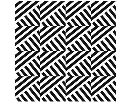 Produktfoto Beistelltisch - Streifen Rapportmuster - Tisch Schwarz Weiß
